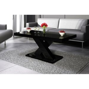 Michael Coffee Table Wade Logan Colour: High-gloss black