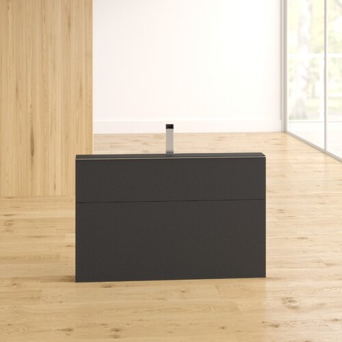 """Michaela Space Saving TV Stand for TVs up to 43"""" Wade Logan Colour: Black"""