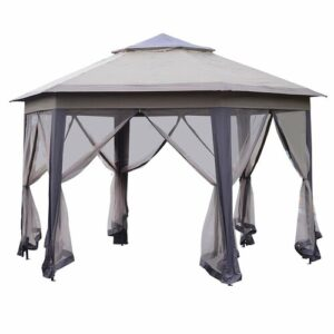 Milanna 10m x 10m Metal Patio Gazebo Sol 72 Outdoor
