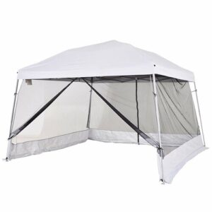 Milanna 3.6m x 3.6m Steel Pop-Up Gazebo Sol 72 Outdoor Roof Colour: White