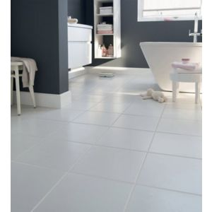 Monzie White Satin Plain Ceramic Floor & wall Tile Sample