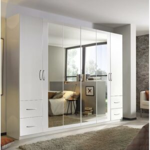 New Town Extra 6 Door Wardrobe Rauch Body and front colour: White