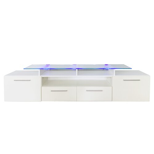 "Neymar TV Stand for TVs up to 88"" Metro Lane Colour: White"