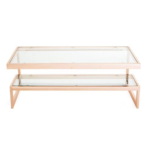 Occasional Coffee Table Canora Grey Base Finish: Rose Gold