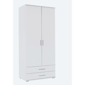 Olpe-Extra 2 Door Wardrobe Rauch Colour: White