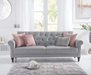 Orlando Grey Linen Sofa Bed