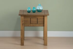 Ortis Distressed Pine Lamp Table