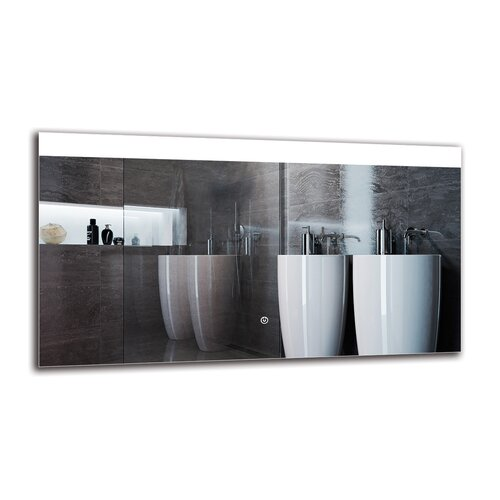 Ozark Bathroom Mirror Metro Lane Size: 50cm H x 90cm W