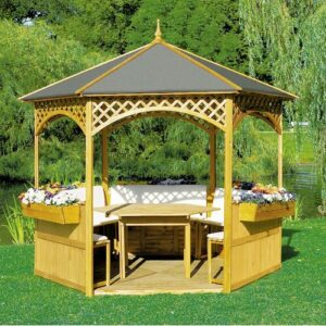 Palma 3m x 3m Wood Gazebo Sol 72 Outdoor