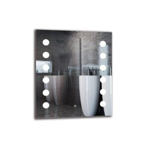 Peasley Bathroom Mirror Metro Lane Size: 70cm H x 60cm W