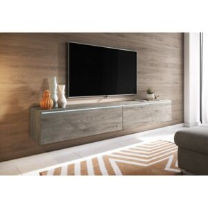 """Pina TV Stand for TVs up to 78"""" Mercury Row Colour: Oak Grey"""