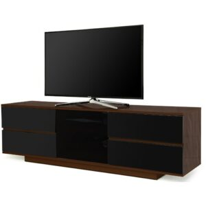 "Pizano TV Stand for TVs up to 65"" Brayden Studio Colour: Walnut/Black"