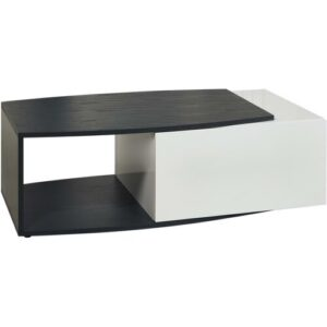 Rick Coffee Table with Storage Ebern Designs Colour: Grey/White