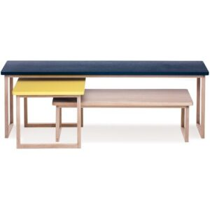 Riner 3 Piece Coffee Table Set Brayden Studio Colour: Petrol Blue/Yellow/Latte