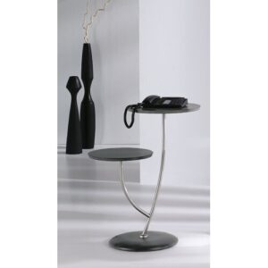 Rizer Side Table Brayden Studio Finish: Black