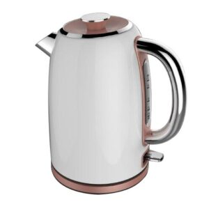 Rosegold 1.7L Stainless Steel Electric Kettle Tower Colour: White