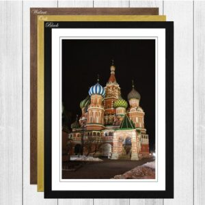 'Saint Basils Cathedral Moscow Russia' Framed Photographic Print Big Box Art Frame Colour: Oak