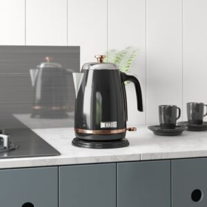 Salcombe 1.7 L Stainless Steel Electric Kettle HADEN Colour: Black/Copper