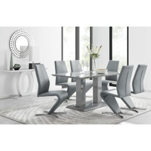 Samirah Dining Set with 6 Chairs Metro Lane Colour (Chair): Grey