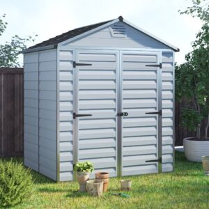 Sanremo 6 ft. W x 5 ft. D Plastic Garden Shed Palram