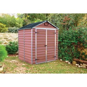Sanremo 6 ft. W x 5 ft. D Plastic Garden Shed Palram Colour: Amber