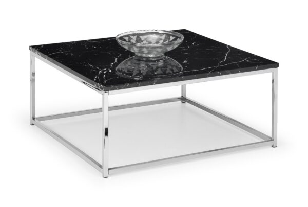 Scala Square Black Marble Coffee Table