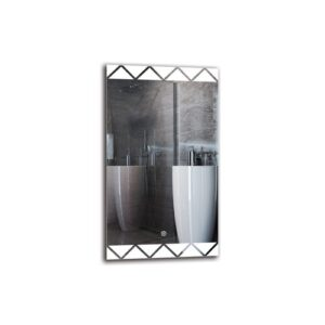 Setrag Bathroom Mirror Metro Lane Size: 70cm H x 40cm W