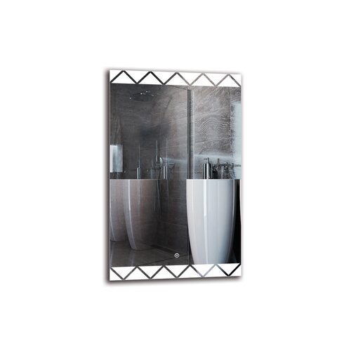 Setrag Bathroom Mirror Metro Lane Size: 80cm H x 50cm W