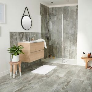 Shaded Slate Grey Matt Stone effect Porcelain Floor Tile Sample