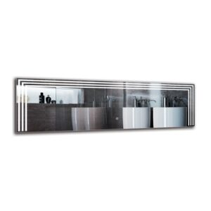 Shavab Bathroom Mirror Metro Lane Size: 40cm H x 130cm W