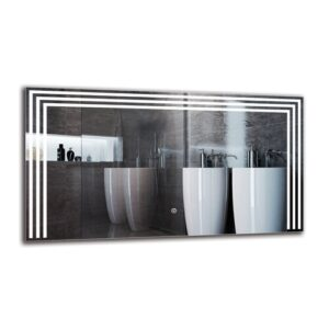 Shavab Bathroom Mirror Metro Lane Size: 50cm H x 90cm W