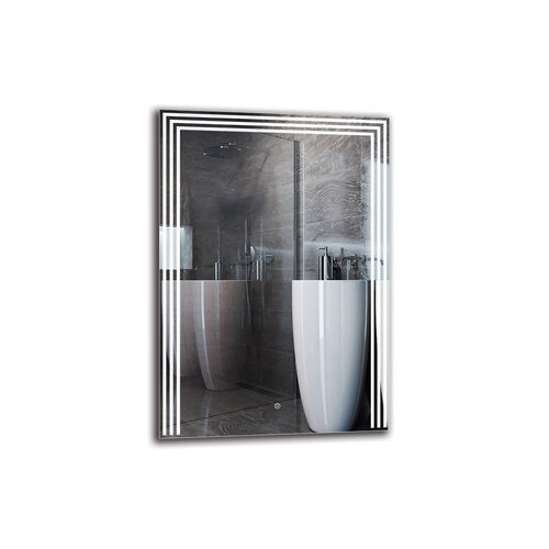 Shavarsh Bathroom Mirror Metro Lane Size: 100cm H x 70cm W