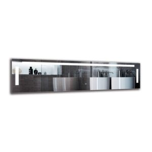 Shiraz Bathroom Mirror Metro Lane Size: 40cm H x 150cm W