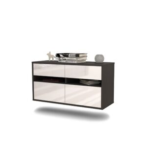 Siddell TV Stand Ebern Designs Colour: High Gloss White