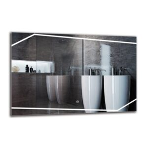 Sipan Bathroom Mirror Metro Lane Size: 60cm H x 90cm W