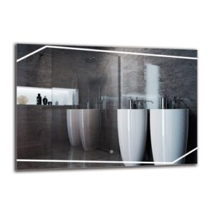 Sipan Bathroom Mirror Metro Lane Size: 70cm H x 100cm W