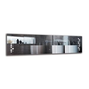 Sisag Bathroom Mirror Metro Lane Size: 40cm H x 140cm W