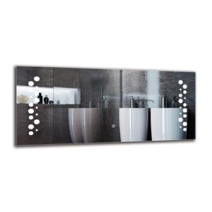 Sisag Bathroom Mirror Metro Lane Size: 40cm H x 90cm W