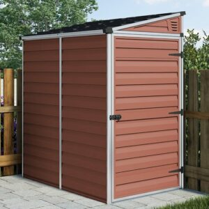 Skylight 4 ft. W x 6 ft. D Plastic Garden Shed Palram Colour: Amber