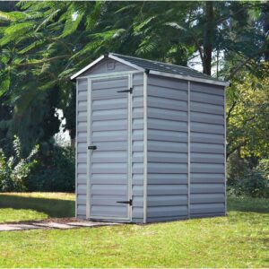 Skylight 4 ft. W x 6 ft. D Plastic Garden Shed Palram Colour: Grey