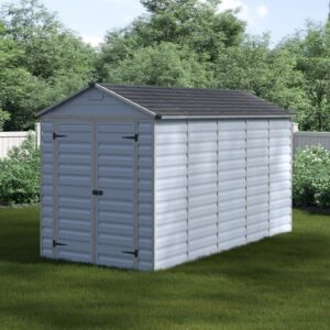 Skylight 6 ft. W x 13 ft. D Plastic Garden Shed Palram Colour: Grey