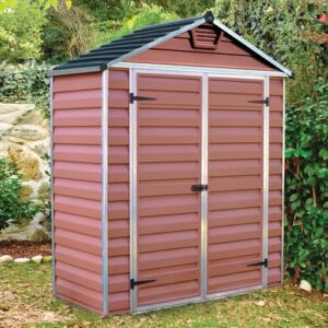 Skylight 6 ft. W x 3 ft. D Plastic Garden/Tool Shed Palram Colour: Amber