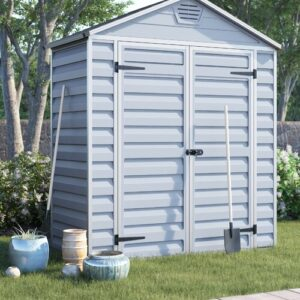 Skylight 6 ft. W x 3 ft. D Plastic Garden/Tool Shed Palram Colour: Grey