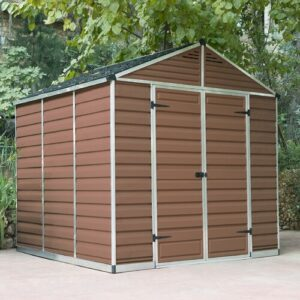 Skylight 8 ft. W x 8 ft. D Plastic Garden Shed Palram Colour: Amber
