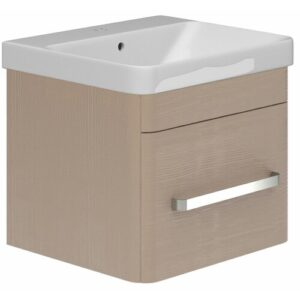 Stibbington 500mm Wall Mount Vanity Unit Belfry Bathroom Base Finish: Stone Grey