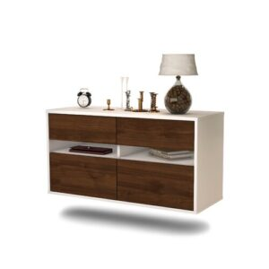 Streton TV Stand Ebern Designs Colour: Walnut