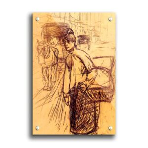 Study for the Washing Machine by Toulouse Lautrec - Unframed Painting Print on Paper East Urban Home Size: 118.9cm H x 84.1cm W x 1cm D