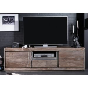"Sydney TV Stand for TVs up to 78"" Massivmoebel24 Colour: Smoked oak"