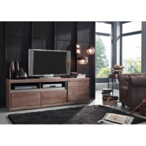 """Sydney TV Stand for TVs up to 88"""" Massivmoebel24 Colour: Smoked oak"""