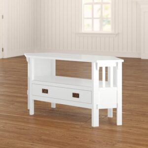 "TV Stand for TVs up to 55"" Bloomsbury Market Colour: White"
